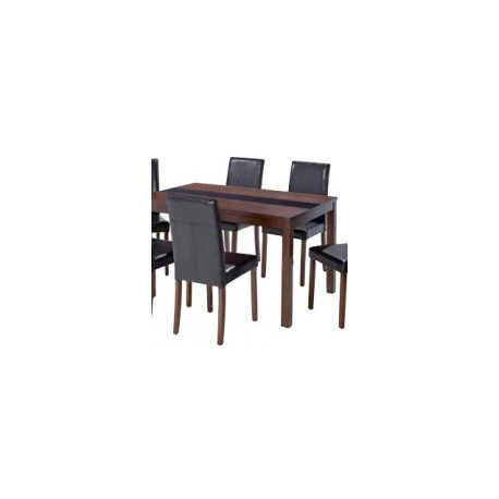 Walnut Ashleigh Large Size Table with Glass Strip