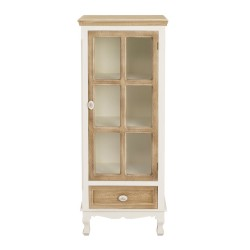 Juliette Display Unit, Glass Door, 1 Drawer, Vintage Shabby Chic Style, Solid Pine And MDF, Painted Finish