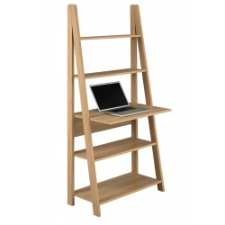 Tiva Ladder Desk in Oak Finish