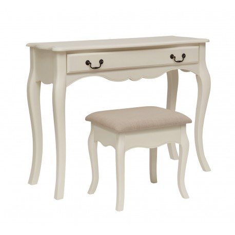 Chantilly Dressing Table, Authentic Elegant Feel, Antique White Finish