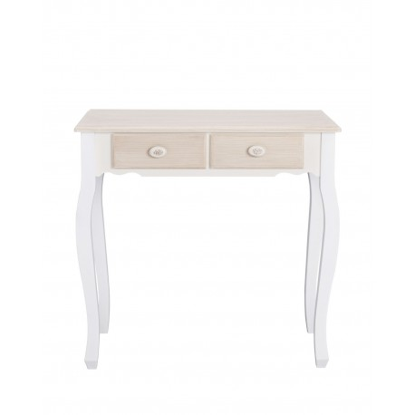 Juliette Dressing Table, 2 Drawers, White Legs, Pine Wood, MDF, Painted Finish