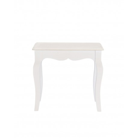Juliette Dressing Stool, Vintage Shabby Look, Painted Finish, MDF And Solid Pine Wood