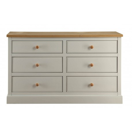 St Ives 2 Draw Dressing Table in Dove Grey Finish with Real Ash Vaneers on Top
