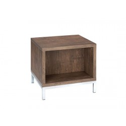 Amari Lamp/End Table, Chorme Feet