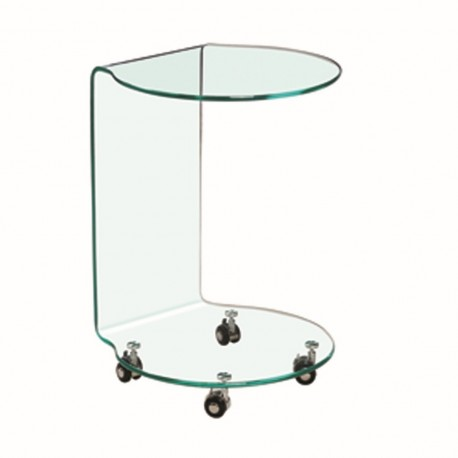 Azurro Eye Catchy Glass Lamp Table/Stand, Sleek and Contemporary Style