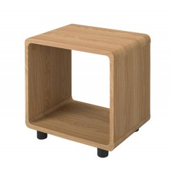 Curve Lamp Table, Oak Finish, Curved Corners, Adds Style To Any Room
