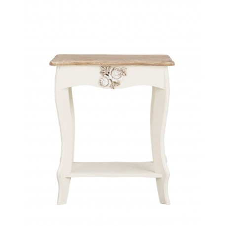 Juliette Lamp Table, Chic Shabby Look, Pine Wood And MDF, Painted Finish
