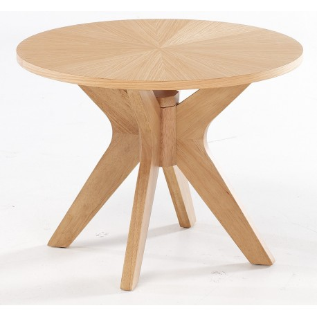 Malmo End/Lamp Table, High End Appeal, Solid Wood, White Oak Veneers