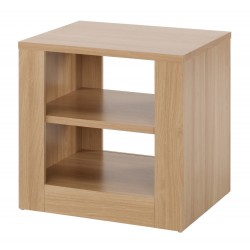 Moda End/Lamp Table, 1 Shelf, Robust Apperence, L Shaped Joints, Oak Wood