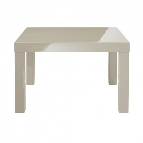 Puro End/Lamp Table, Sleek Contemporary Style, High Gloss Cream