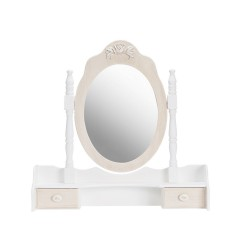 Juliette Dressing Table Mirror, 2 Small Drawers, Painted Finish, Solid Pine And MDF