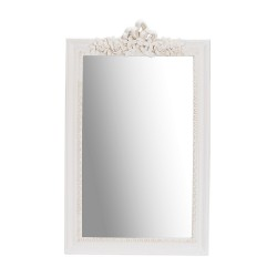 Juliette Wall Mirror, Cream, Vintage Look, Pine Wood