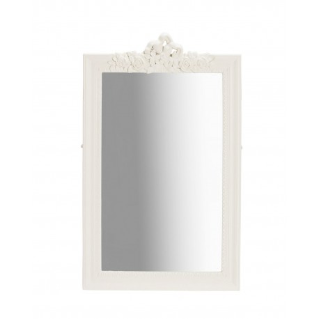 Juliette Wall Mirror, White, Vintage Look, Pine Wood