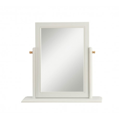 St Ives Elegant Mirror for Dressing Table Finished in Dove Grey.