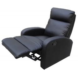 Dallas Recliner Black Chair, Sculpted arms
