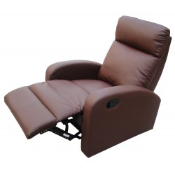 Dallas Recliner Brown Chair, Sculpted arms