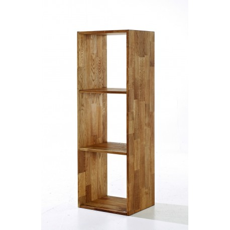 Maximo 3 Cube Divider, Cool And Creative Look, Solid Oak