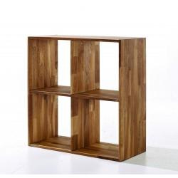 Maximo 4 Square Cube Divider, Versatile Storage, Solid Oak