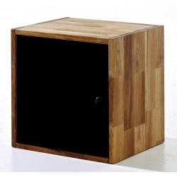 Maximo Cube With Door, Versatile Storage, Creative Look, Solid Oak