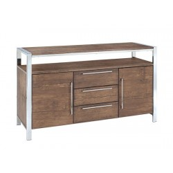 Amari Sideboard, 2 doors and 3 Drawers, Chrome Feet