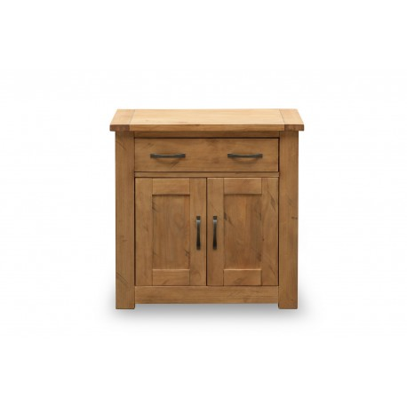 Boden Small Sideboard, 2 Doors + 1 Drawer, Rough Swan Rustic Finish