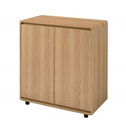 Curve Small/ Compact Sideboard, Oak Finish, Smooth Curved Corners, Stylish Addition