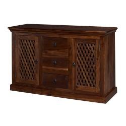 Darjeeling Large Sideboard, 2 Doors + 3 Drawers, Versatile Style, Solid Sheesham Wood