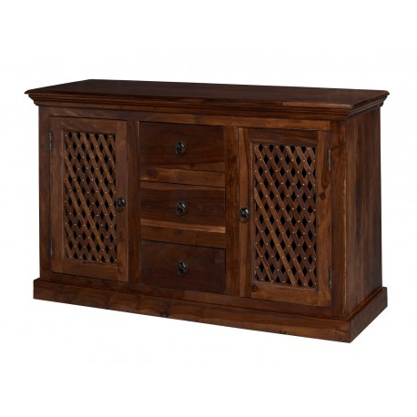 Darjeeling Large Sideboard, 2 Doors + 3 Drawers, Versatile Style, Solid Sheesham Wood