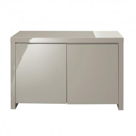Puro 2 Door Sideboard, Soft Closing Doors, Sleek Contemporary Style, High Gloss Cream