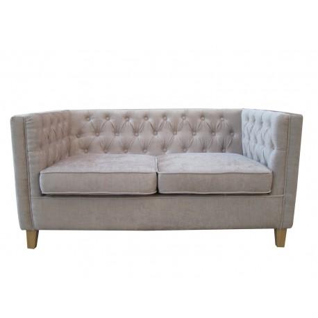 York Chenille Style Mink Fabric 2 Seater Sofa