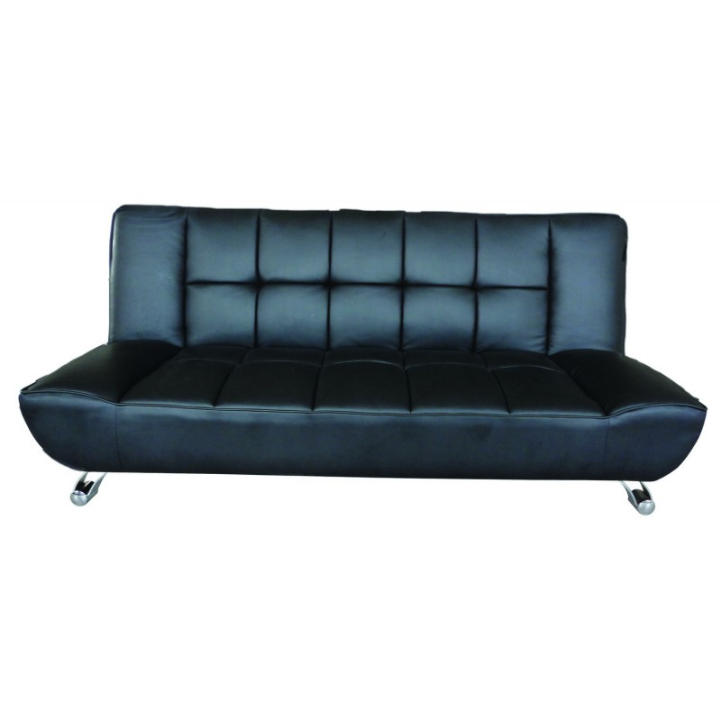 Enjoyable Vogue Contemporary Sofa Bed In Black Faux Leather Beutiful Home Inspiration Truamahrainfo