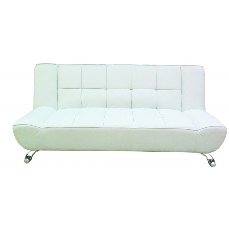 Fantastic Vogue Contemporary Sofa Bed In White Faux Leather Fimu Co Uk Beutiful Home Inspiration Truamahrainfo