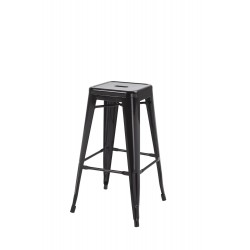 Hoxton Stacking Stool, Black 2 Pack