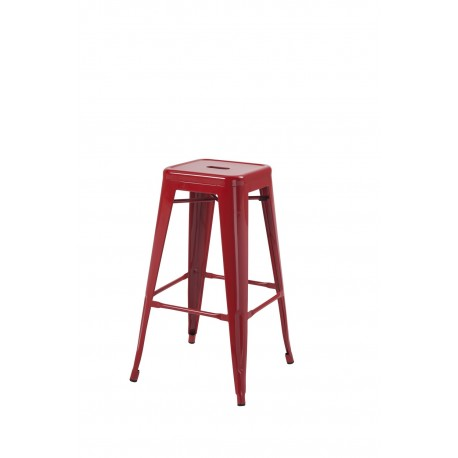 Hoxton Stacking Stool, Red 2 Pack