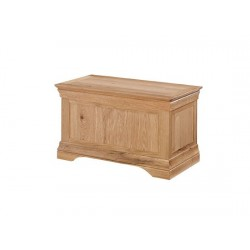 Worthing Solid American White Oak Storage, Blanket, Toy, Ottoman Box