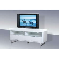 Accent Tv Unit High Gloss White