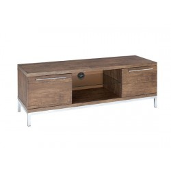 Amari Tv Unit/ Low Sideboard, Glass Shelf and 2 End Drawers