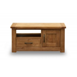 Boden TV Unit, 1 Drawer + 1 Door, Solid pine, Rustic Finish