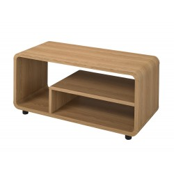 Curve TV Stand/ Unit, Distinctive Curved Corners, Oak Finish, Individual Style