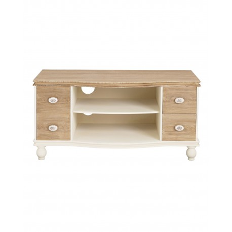 Juliette TV/ Media Unit, Self + 4 Drawers, Vintage Chic Style, Painted Finish, MDF And Solid Pine Wood
