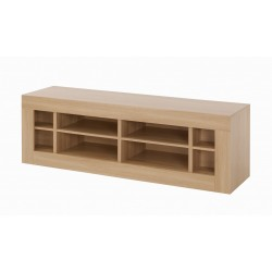 Moda TV/Media Unit, 4 Storage Spaces, Modern Style, L Shaped Joints, Oak Wood