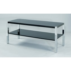 Novello TV Unit/Stand, Chrome Legs, Modern Style, High Gloss Black