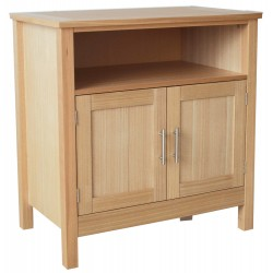 Oakridge TV Unit, 2 Doors, Real Ash Veneer With Oak Finish, Suits Any Style