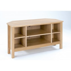 Oakridge TV Corner Unit, Real Ash Veneer With Oak Finish, Suits Any Style