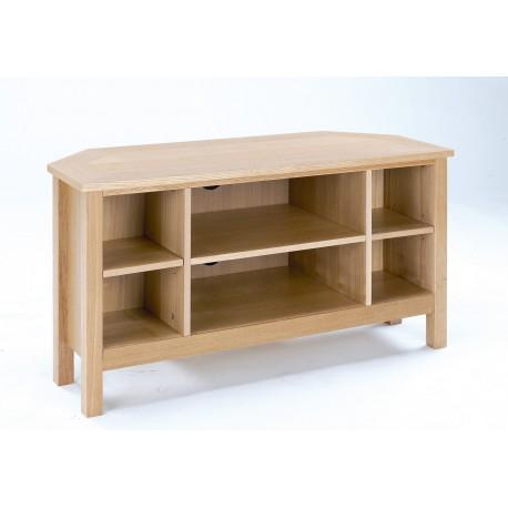 Oakridge TV Corner Unit, Real Ash Veneer With Oak Finish, Suits Any Style