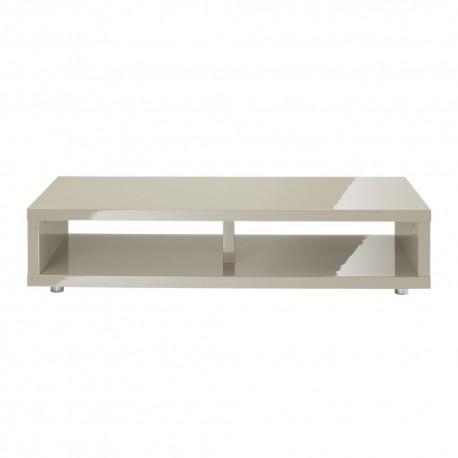 Puro TV Media Stand, Sleek Contemporary Style, High Gloss Cream