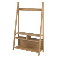 Tiva Ladder Unit, Entertainment Unit in Oak Finish