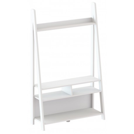 Tiva Ladder Unit, Entertainment Unit Coated in White Colour