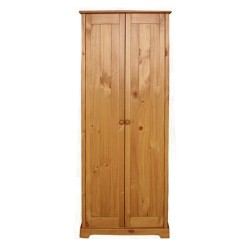 Baltic 2 Door Wardrobe, Contemporary Style, Antique Pine