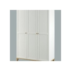 Boston 3 Door Wardrobe, 3 Internal Shelves, Ash Tops And Trims, Classy Simple Collection